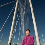 Lyda at Margaret Hunt Hill Bridge Opening